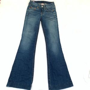 True Religion Dana Jeans Size 26 Flare Distressed